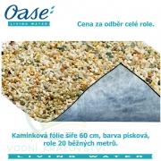 Kamínková fólie šíře 60 cm, barva písková, cena 469 Kč za 1 běžný metr při odběru celé role 20 m