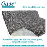 Kamínková fólie šíře 100 cm, barva granit, cena 786 Kč za 1 běžný metr při odběru celé role 12 m