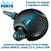 Jezírkové čerpadlo Aqua Forte O-series O 4600, průtok 4600l/h, výtlak 2,6 m, příkon 35W