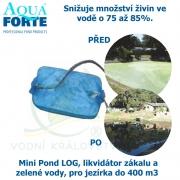 Mini Pond LOG, likvidátor zákalu a zelené vody, pro jezírka a biotopy bez filtrací do 400 m3, fosfátový flukolant