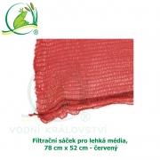 Filtrační sáček pro lehká média, 78x52 cm - červený