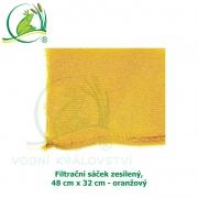 Filtrační sáček zesílený, 48x32 cm - oranžový