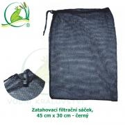 Zatahovací filtrační sáček, 45 cm x 30 cm - černý