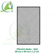Filtrační deska - blok 68 x 40 x 1,2 cm