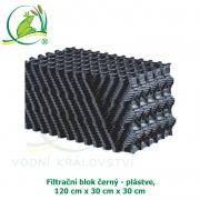 Filtrační blok černý - plástve 120x30x30 cm