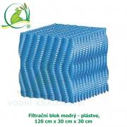 Filtrační blok modrý - plástve 120x30x30 cm