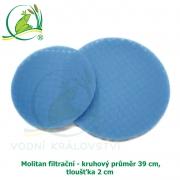 Molitan filtrační - kruhový průměr 39 cm, tloušťka 2 cm