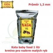 Kata baby food 1 litr - krmivo pro rozkrm malych ryb 1,3 mm