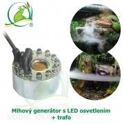 Mlhový generátor s LED osvetlením + trafo