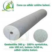 Geotextilie 300 g 100% synteticka, role 100 m2, baleno 2x50 m, odběr celého balení, 29,85 Kč za 1 m2
