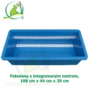 Fotovana s integrovaným metrem, modrá, 108x44x29cm