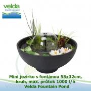 Mini jezírko s fontánou 55x32cm, kruh, max. průtok 1000 l/h - Velda Fountain Pond