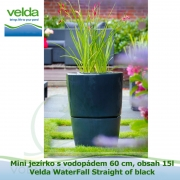 Mini jezírko s vodopádem 60 cm, obsah 15l – Velda WaterFall Straight of black
