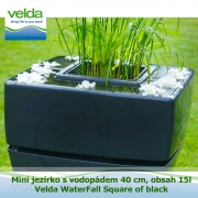 Mini jezírko s vodopádem 40 cm, obsah 15l – Velda WaterFall Square of black