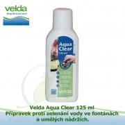 Velda Aqua Clear 125 ml - Přípravek proti zelenání vody ve fontánách a umělých nádržích