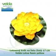 Lotosový květ na listu žlutý 17 cm - Velda Lotus foam yellow