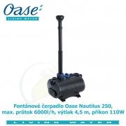 Fontánové čerpadlo Oase Nautilus 250, max. průtok 6000l/h, výtlak 4,5 m, příkon 110W, - Výprodej nového zboží, poškozená krabice.
