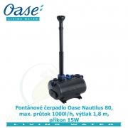 Fontánové čerpadlo Oase Nautilus 80, max. průtok 1000l/h, výtlak 1,8 m, příkon 15W, - Výprodej nového zboží, poškozená krabice.