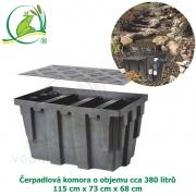 Čerpadlová komora 115x73x68 cm, 380 litrů,