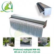 Přelivový nerez vodopád Nautic NW-60, 60x14,5x9,5cm, doporučené čerpadlo 4500 l/hod.
