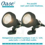 LunAqua 2 set 2 / 12V, sada trafo + 2x20 Watt světlo, - Výprodej nového zboží, poškozená krabice