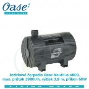 Jezírkové čerpadlo Oase Nautilus 4000, max. průtok 3900l/h, výtlak 3,9 m, příkon 60W, - Výprodej nového zboží, poškozená krabice.
