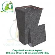 Čerpadlová komora s krytem 100x70x41 cm, 270 litrů,
