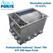 Profesionální bubnový ,drum filtr, ATF-500 Aqua Forte, maximální průtok 75 m3/h