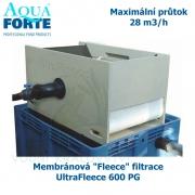 Membránová Fleece filtrace - UltraFleece 600 PG, maximální průtok 28 m3/h