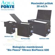 Biologicko-membránová Bio Fleece filtrace - BioFleece 600, maximální průtok 20 m3/h