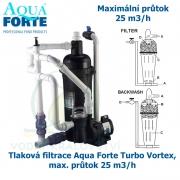 Tlaková filtrace Aqua Forte Turbo Vortex, max. průtok 25 m3/h
