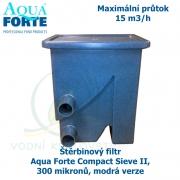 Štěrbinový filtr Aqua Forte Compact Sieve II, 300 mikronů, modrá verze