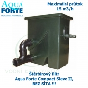 Štěrbinový filtr Aqua Forte Compact Sieve II, bez síta, trubek, napojení
