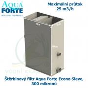 Štěrbinový filtr Aqua Forte Econo Sieve, 300 mikronů