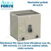Štěrbinový filtr Aqua Forte UltraSieve Low-XL , 300 micronů, 3 x 110 mm zvýšený nátok