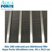 Síto 200 mikronů pro štěrbinový filtr Aqua Forte UltraSieve Low, 45 x 34,5 cm