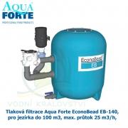 Tlaková filtrace Aqua Forte EconoBead EB-140, pro jezírka do 100-250 m3, max. průtok 25 m3/h,