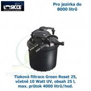 Tlaková filtrace Green Reset 25, včetně 10 Watt UV, pro jezírka do 8000 litrů, obsah 25 l, max. průtok 4000 litrů/hod.