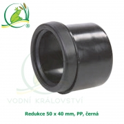 Redukce 50 x 40 mm, PP, černá