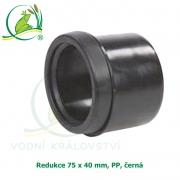 Redukce 75 x 40 mm, PP, černá