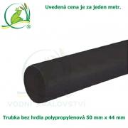 Trubka bez hrdla polypropylenová 50x44mm, černá