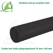 Trubka bez hrdla polypropylenová 75x69mm, černá