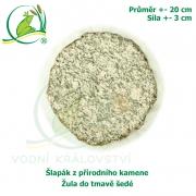 Šlapák z přírodního kamene - Žula do tmavě šedé , průměr 20cm, síla 3 cm
