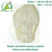 Šlapák z přírodního kamene ,Ledvina-007,- Pískovec do světle béžové, 50x40cm, síla 3-5cm