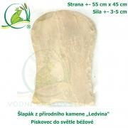 Šlapák z přírodního kamene ,Ledvina-008,- Pískovec do světle béžové, 55x45cm, síla 3-5cm