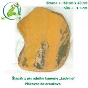 Šlapák z přírodního kamene ,Ledvina-010,- Pískovec do oranžova, 50x40cm, síla 3-5cm