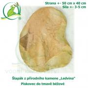 Šlapák z přírodního kamene ,Ledvina-013,- Pískovec do tmavě béžové, 50x40cm, síla 3-5cm