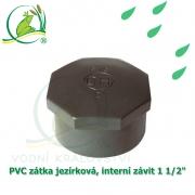 PVC zátka jezírková, interní závit 1 1/2