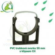 PVC trubková svorka 50 mm s klipsem CH