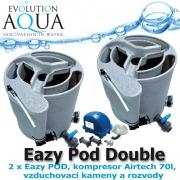 Eazy Pod Double, 2xEazy POD, kompresor Airtech 70l, vzduchovací kameny a rozvody, pro jezírka od 10-100 m3